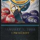 2008 Capital One Bowl Ticket, Michigan vs. Florida