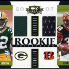 2007 Threads BRANDON JACKSON & KENNY IRONS GU Jersey RC
