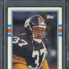 1989 Topps Traded #80T Carnell Lake RC PSA 9 Steelers