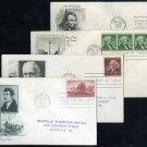 1954 US Stamp FDC Lot (Lincoln, Washington+)