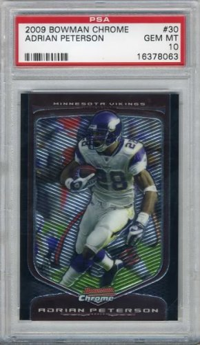 2009 Bowman Chrome ADRIAN PETERSON Card PSA 10 Vikings