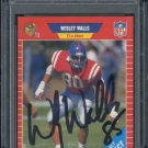 1989 Pro Set #538 WESLEY WALLS Auto RC PSA/DNA 49ers