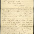 1890 Melissa, Texas Letter with Comet Scare/View Note