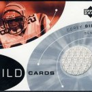 2002 Upper Deck Wild Cards COREY DILLON GU Jersey Card