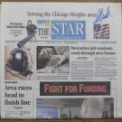 Park Forest Meteorite Fall Newspaper, S. Arnold Signed