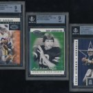2000 Donruss Pref QBC Graded TROY AIKMAN BGS Card Lot