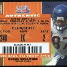 2007 Topps Ex MUHSIN MUHAMMAD Super Bowl XLI Ticket 1/1