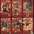1994 Pro Tags 49ers Team Set, Jerry Rice/Steve Young+
