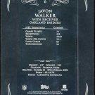 2008 Topps Mayo JAVON WALKER Printing Plate Card 1/1