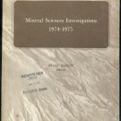 Mineral Sciences Investigations 1974-1975; Meteorite