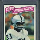 1975 Topps #454 CLIFF BRANCH HL PSA NM-MT 8 Raiders
