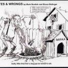 'Rites & Wrong, Signed Meteorite Postcard, Nakhla Dog