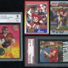 49ers JOE MONTANA Card Lot with PSA 1985 Topps+