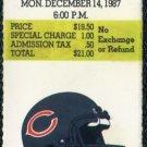 1987 49ers vs Bears Ticket Stub, Jerry Rice TD Record