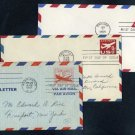1947-1965 Pre-Stamped Airmail Envelope FDC Lot