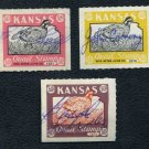 1957-1959 Kansas Quail Stamp Lot, Duck/Revenue/BOB