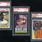 Chargers KELLEN WINSLOW Topps PSA Gaded Card Lot