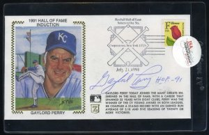 Royals GAYLORD PERRY Signed/Auto HOF Cachet JSA SOA
