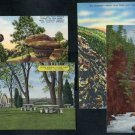 Colorado Linen Postcard Lot; Mineral Palace, Canyons+