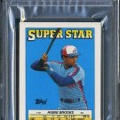 1988 Topps Stickercard #10 HUBIE BROOKS PSA 10 Expos