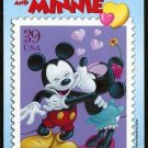 2006 Disney Mickey & Minnie Mouse Stamp USPS Postcard