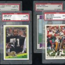 New Orleans Saints PSA Graded Card Lot; Sam Mills RC+