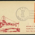 1951 USS Frank E. Evans Ship Cancel Shaw Postal Card