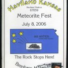 2006 Haviland, KS Meteorite Festival Program, Canceled