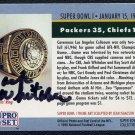 TV Sportcaster JACK WHITAKER Signed Super Bowl I Card