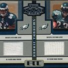 2005 Playoff Honors REGGIE BROWN/RYAN MOATS Jersey Card