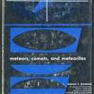 Meteors, Comets and Meteorites Hardcover Book (1964)