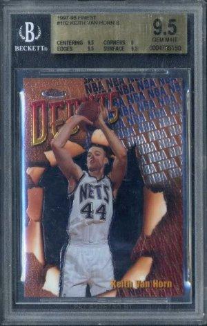 1997 Finest #102 KEITH VAN HORN RC BGS 9.5 Nets