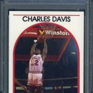 1989 Hoops #13 CHARLES DAVIS Card PSA 10 Chicago Bulls