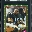 1986 Topps #291 DONNIE SHELL Card SGC 98 GEM Steelers