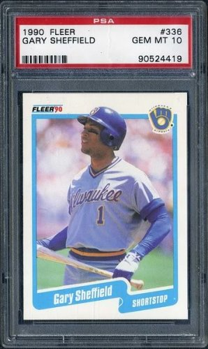 1990 Fleer #336 GARY SHEFFIELD Card PSA 10 Brewers