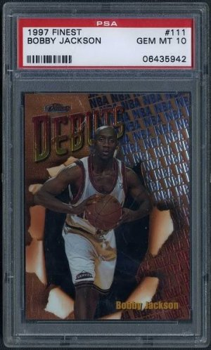 1997 Finest #111 BOBBY JACKSON RC PSA 10 Nuggets
