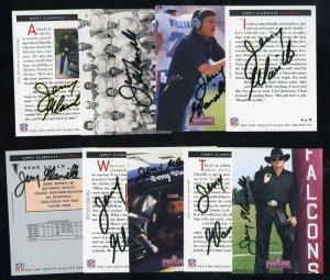 1992 Profiles JERRY GLANVILLE Autographed Card Set (9)