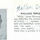 NFL's WALLACE TRIPLETT Signed High School Yearbook