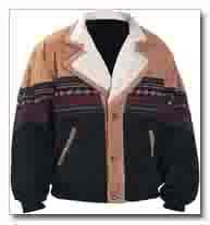 Western suede 2 tone jacket