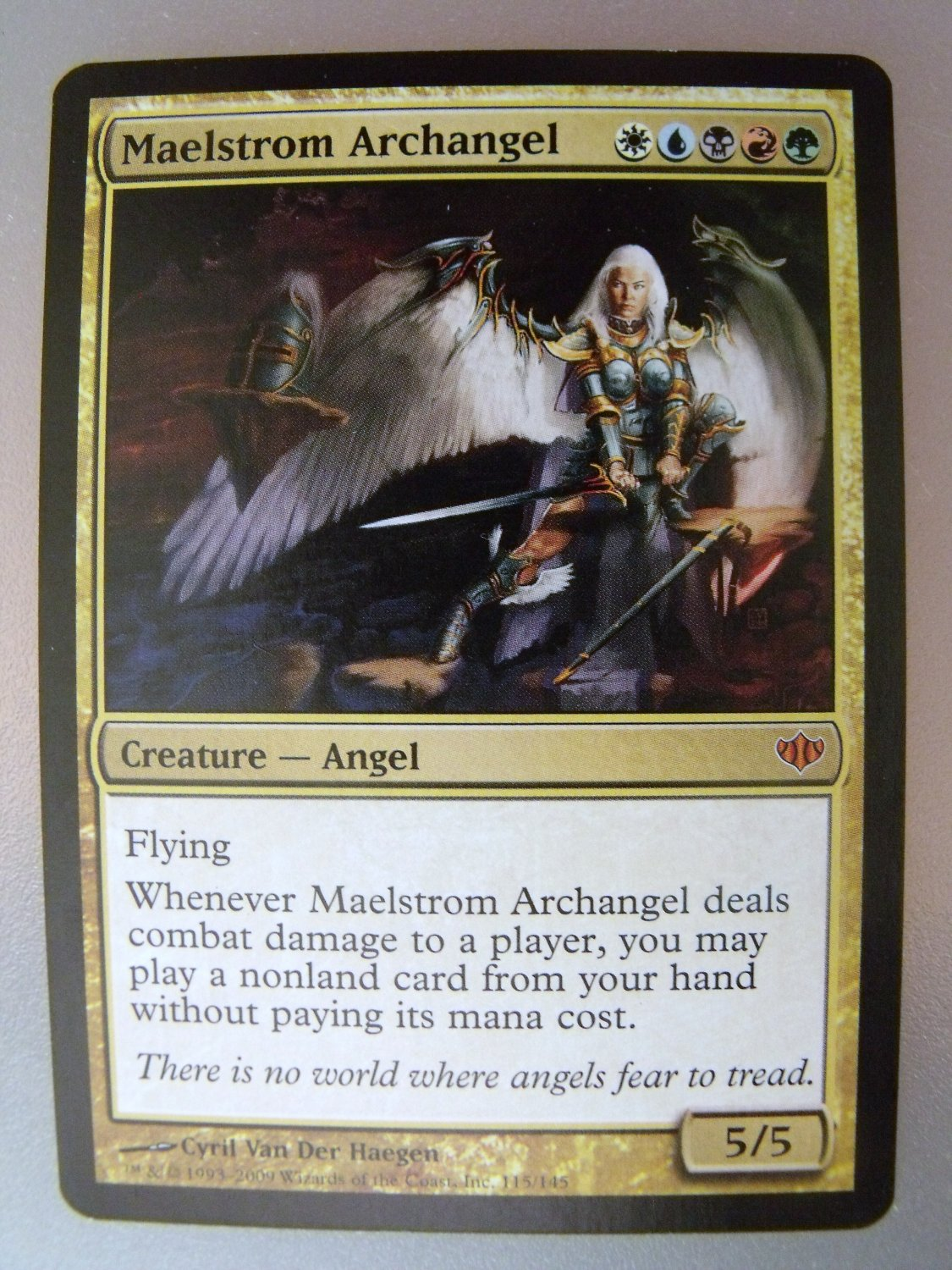 Maelstrom Archangel, Conflux, NM, Magic the Gathering
