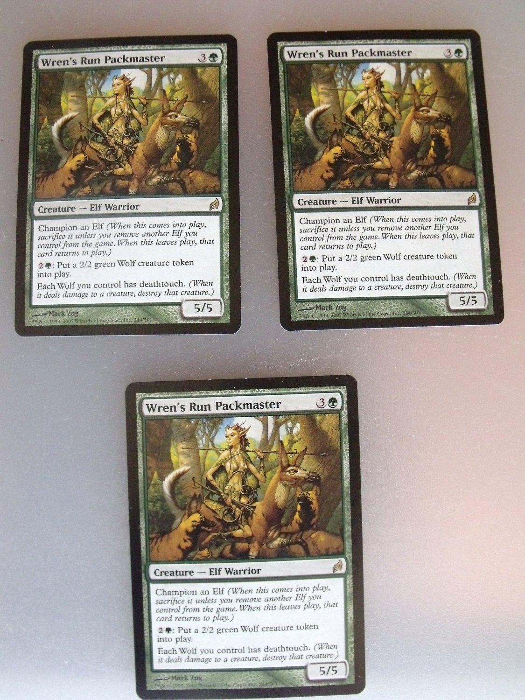 3x Wren's Run Packmaster, Lorwyn, VF, Magic the Gathering