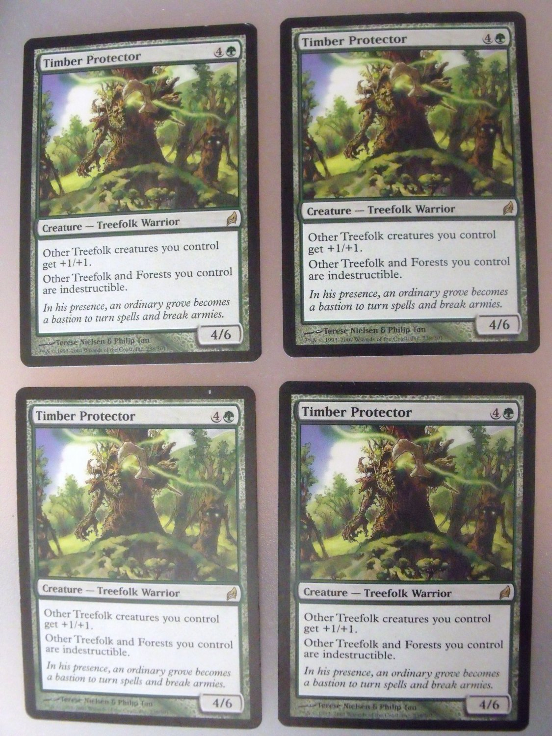 4x Timber Protector, Lorwyn, VF Magic the Gathering