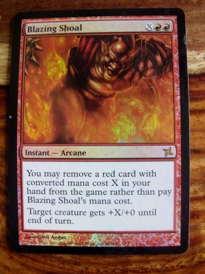 FOIL Blazing Shoal, Betrayers, VF  Magic the Gathering
