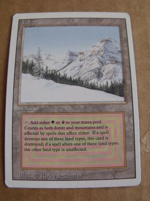 Taiga, Revised Dual Land, NM  Magic the Gathering