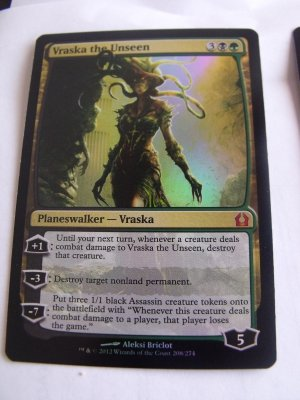 FOIL Vraska, the Unseen, Return to Ravnica, NM  Magic the Gathering