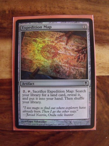 FOIL Expedition Map, Zendikar, NM  Magic the Gathering