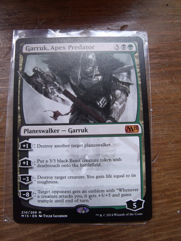 Garruk, Apex Predator, M15, NM  Magic the Gathering