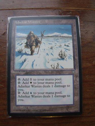 Adarkar Wastes, Ice Age, VF+  Magic the Gathering