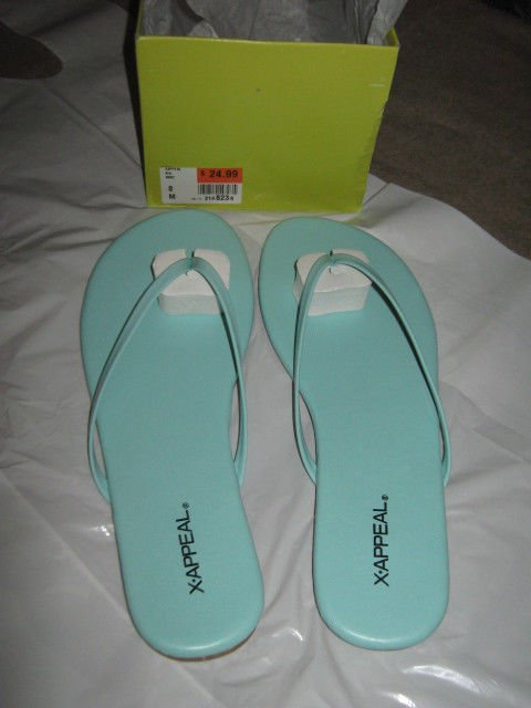 New Women's X-Appeal Mint Green Sandals Size 8