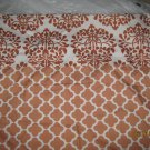 New 2 Rust & White Abstract Design Standard Pillow Cases Zip Closure 20x26